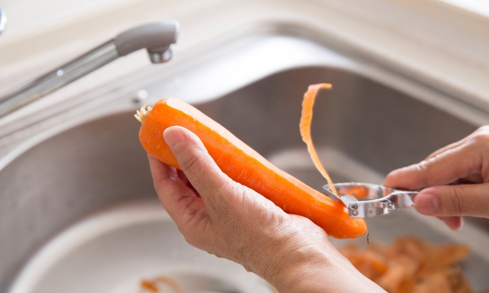 Photo of Carrot Peels as Guinea Pig Food