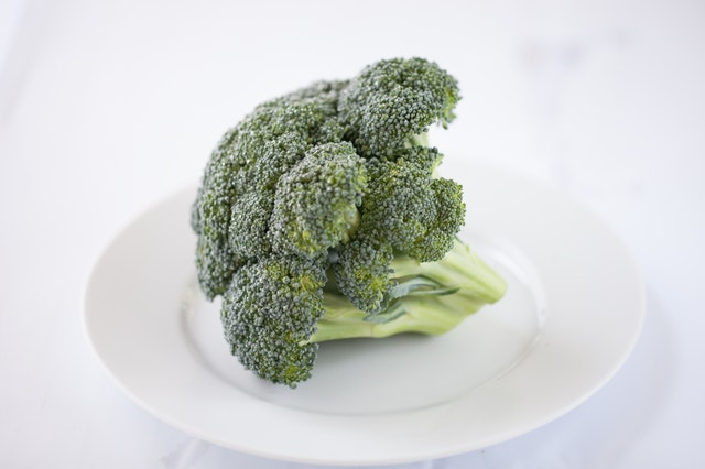 Photo of the whole broccoli as a food for guinea pigs