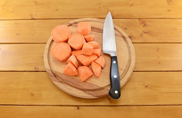 Preparing Sweet Potatoes for Guinea Pigs