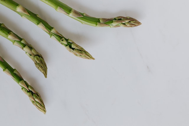 A picture of asparagus tips as a food for guinea pigs