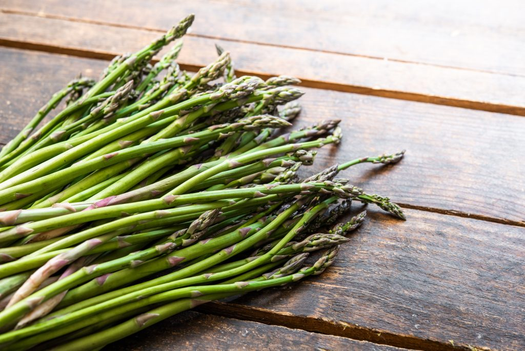 A picture of asparagus as a food for guinea pigs