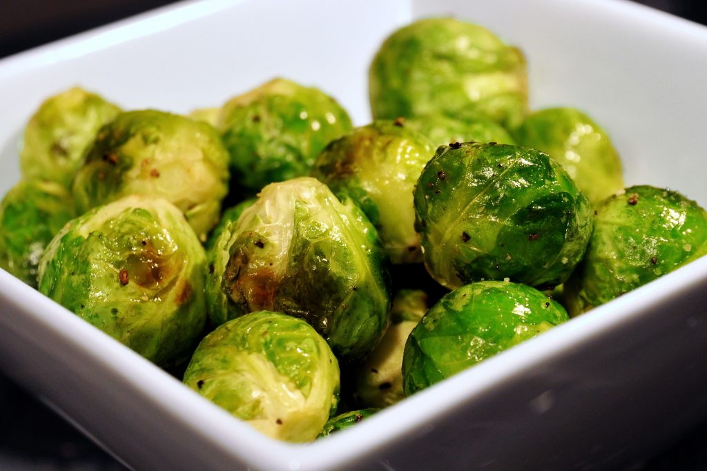 A picture of cooked brussel sprouts not as a food for guinea pigs