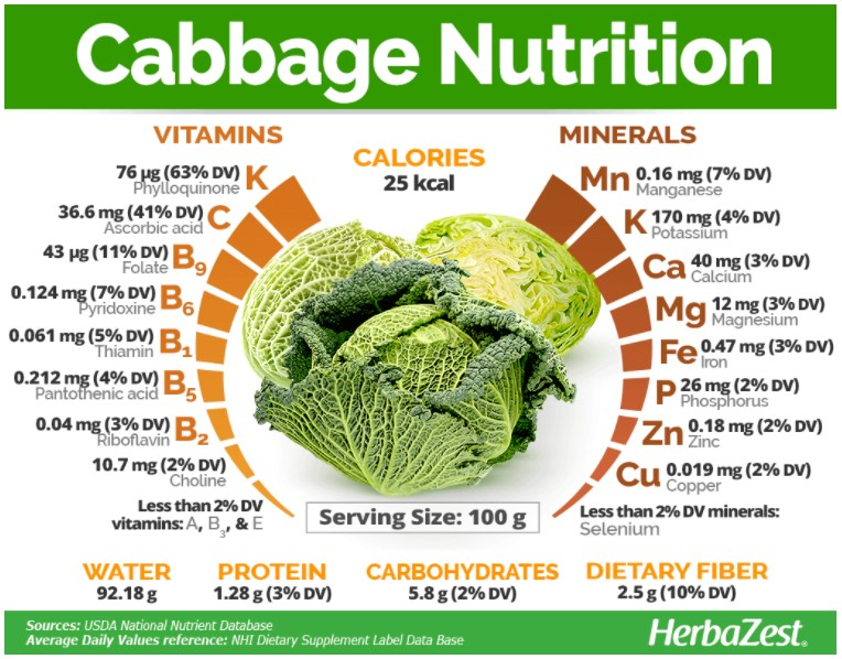 benefits that guinea pigs can get from cabbage